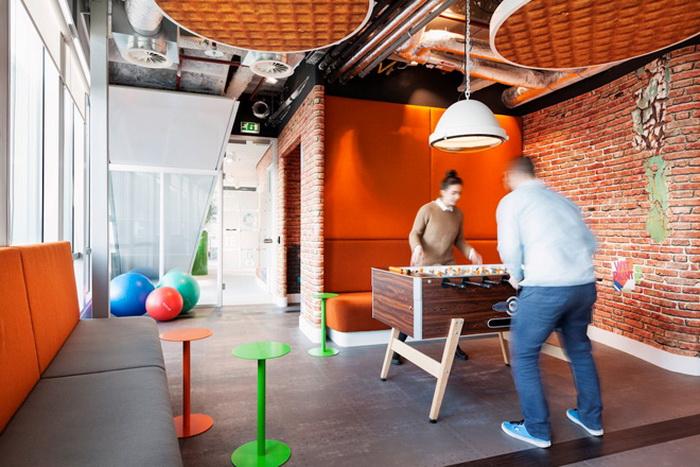 Игровая комната для сотрудников офиса