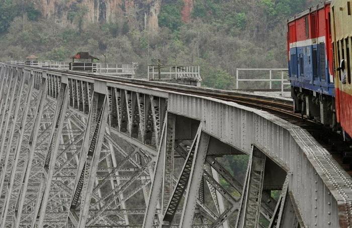 Виадук Готейк (Goteik) – один из самых высоких мостов в мире