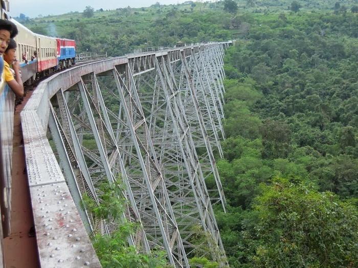 Виадук Готейк (Goteik) – одно из самых известных инженерных сооружений в Мьянме