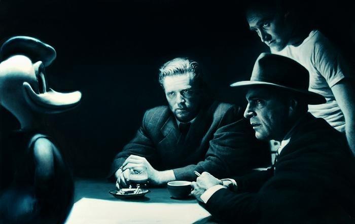 На картинах Готфрида Хельнвайна (Gottfried Helnwein) часто можно увидеть диснеевских персонажей