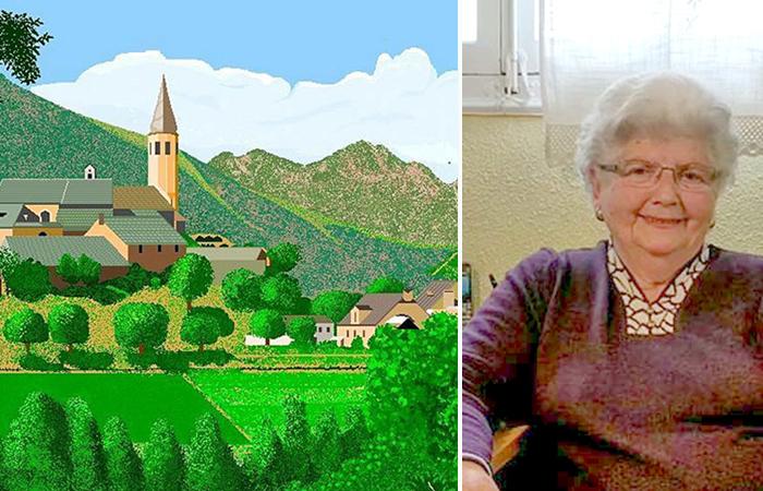 Бабушка рисует в Paint