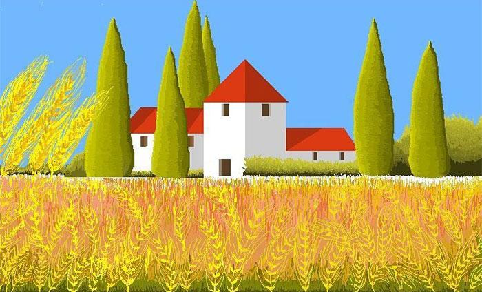 Рисунки, созданные бабушкой в программе MS Paint