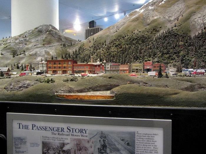 Железнодорожная экспозиция в чикагском музее