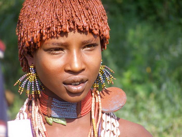 Женщины племени хамер славятся своей красотой