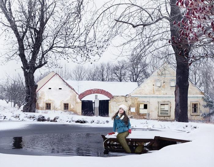 Русалка Барунка из Чехии: фотопроект от Ханны Воячковой (Hana Vojackova)