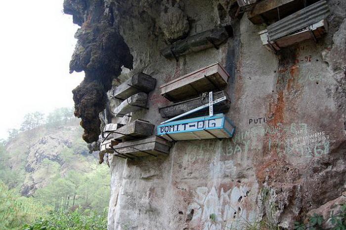 Воздушное погребение - древний обряд на Филиппинах