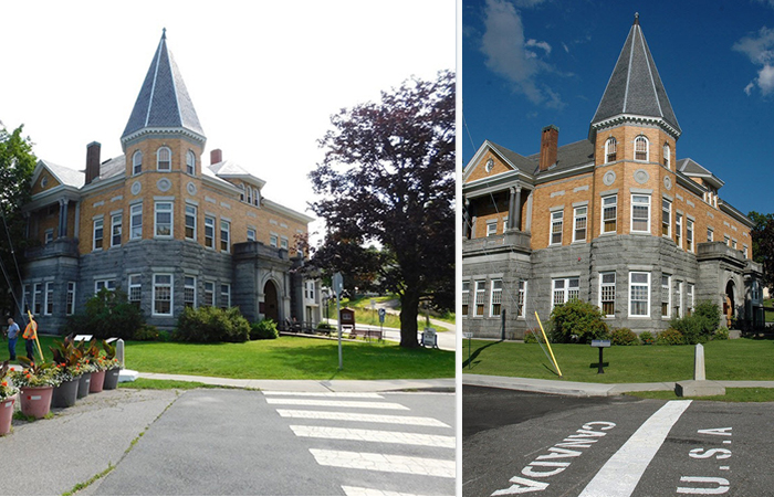Библиотека на границе Канады и Америки.