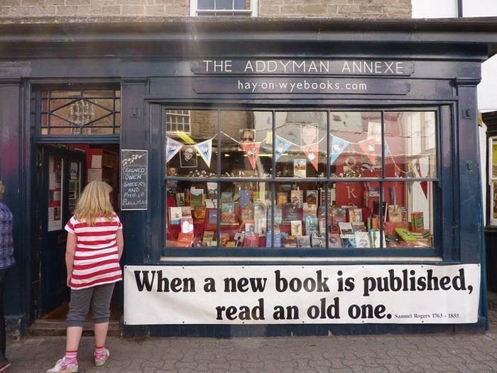 Книжные магазины на улицах Хей-он-Уай