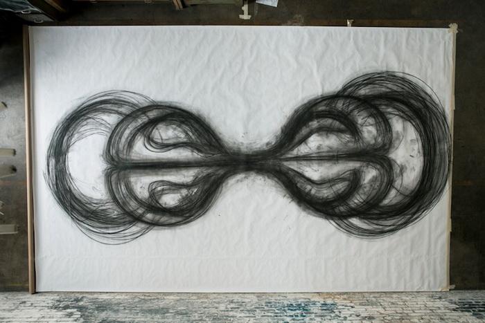 Рисунок, созданный при помощи танца