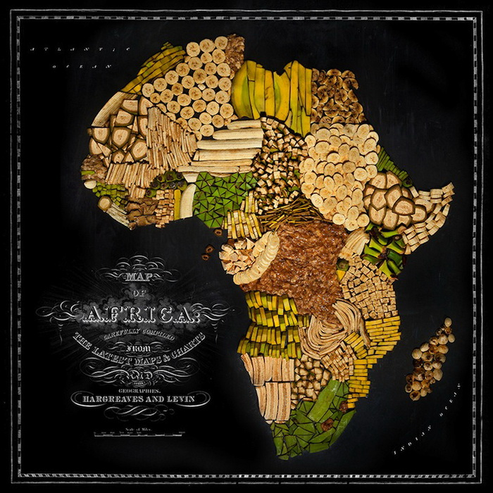 Съедобная карта мира от Генри Харгривз (Henry Hargreaves)