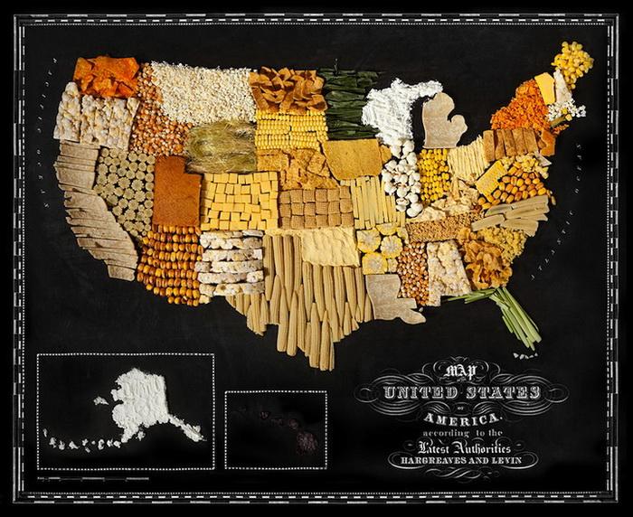 50 американских штатов из кукурузы