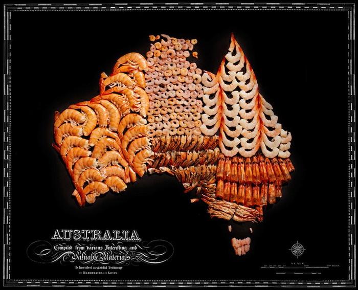 Австралия из креветок