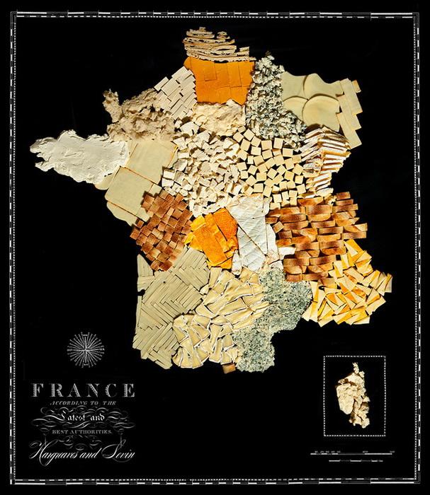 Франция из сыра и булочек