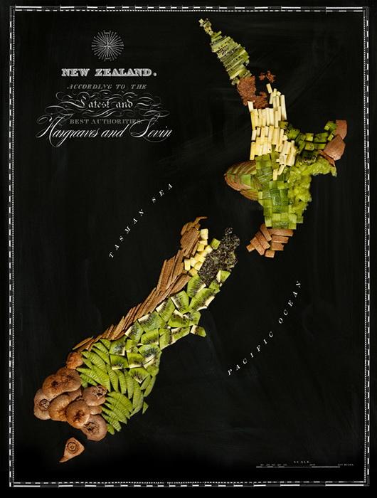 Новая Зеландия из киви