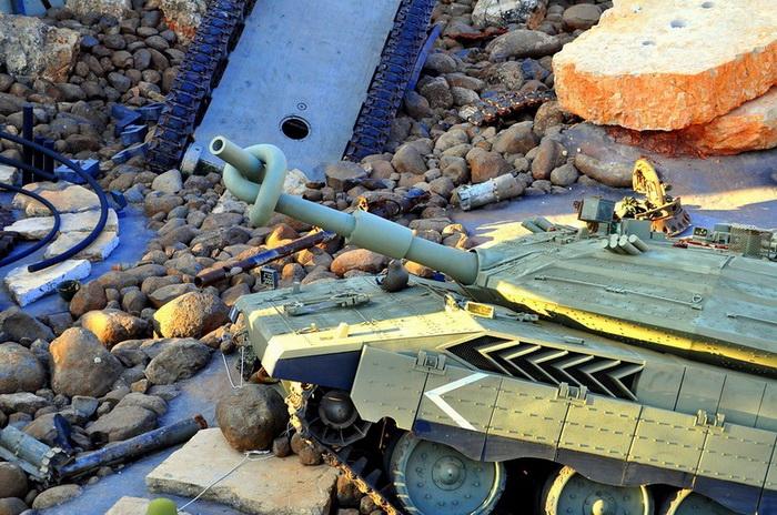 Танк символизирует поражения Израиля