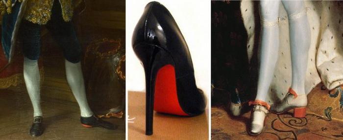Туфли с красной подошвой, коллаж. Фото: italy-shop.by