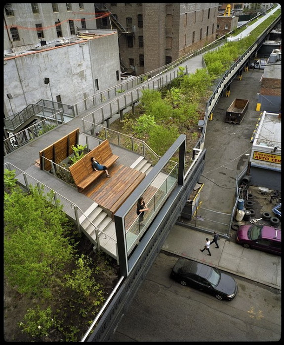 Ежегодно парк Хай-Лайн в Манхэттене посещают около 4 миллионов американцев