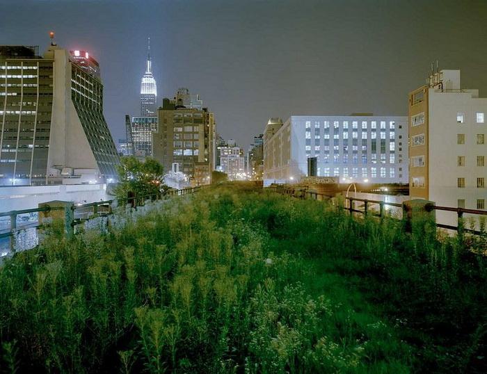 Современный вид парка Хай-Лайн в Манхэттене