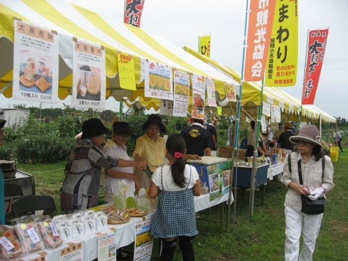 Во время фестиваля туристы могут преобрести всевозможную продукцию из подсолнечника