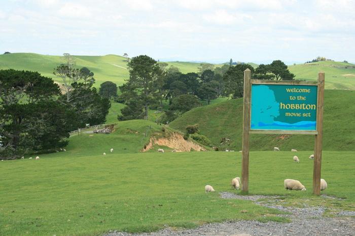 Хоббитон - рай для овец и... поклонников Толкиена!
