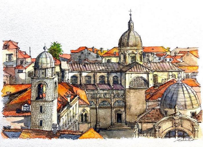 Городские крыши: Дубровник, Хорватия