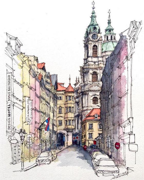 Узкие пражские улочки, Чехия