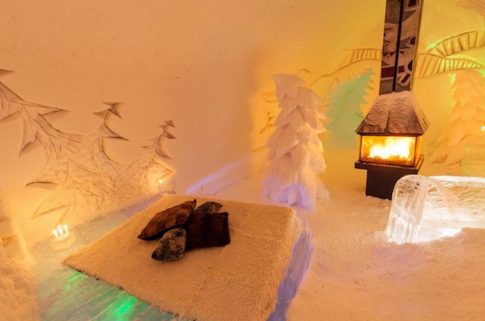 Уютные зимние апартаменты отеля Hotel De Glace