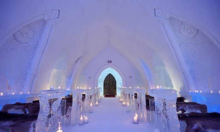 Ледяная часовня отеля Hotel De Glace