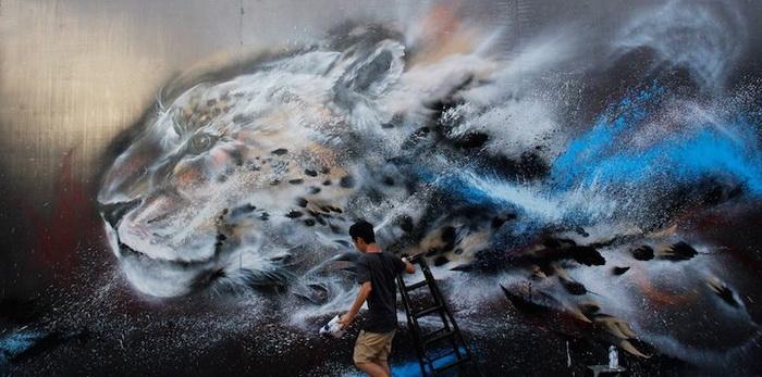 Граффити от художника Hua Tunan (Chen Yingjie)