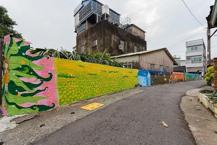 Уличное искусство в деревне Huija (Тайвань)