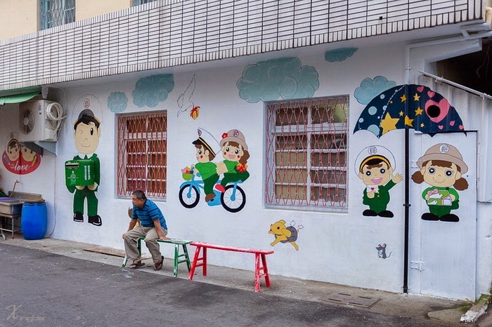 Деревня Huija (Тайвань) - музей под открытым небом