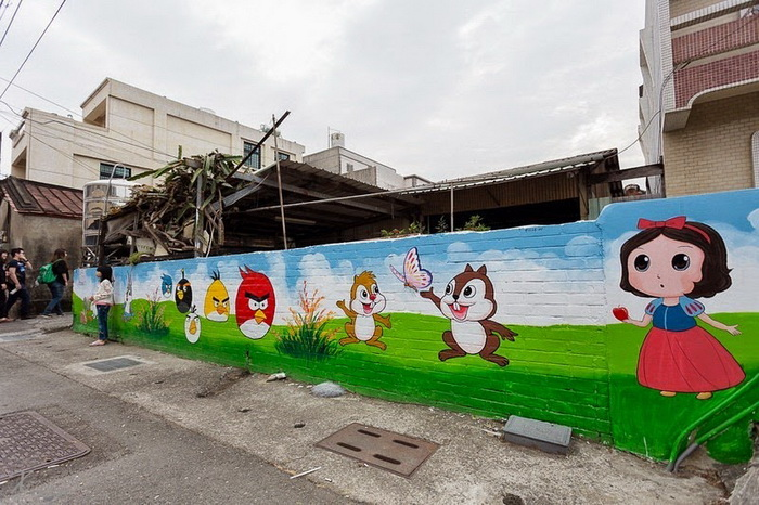 Стрит-арт в деревне Huija (Тайвань)