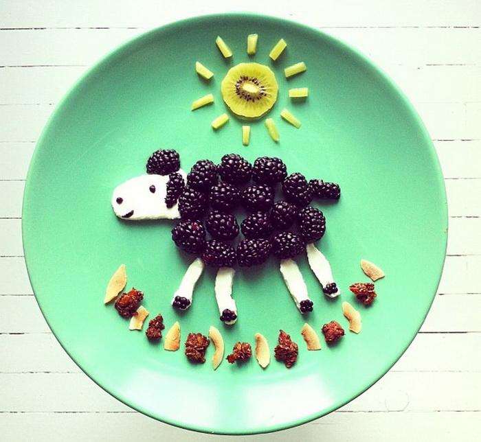 Забавные рисунки из еды от Ida Skivenes