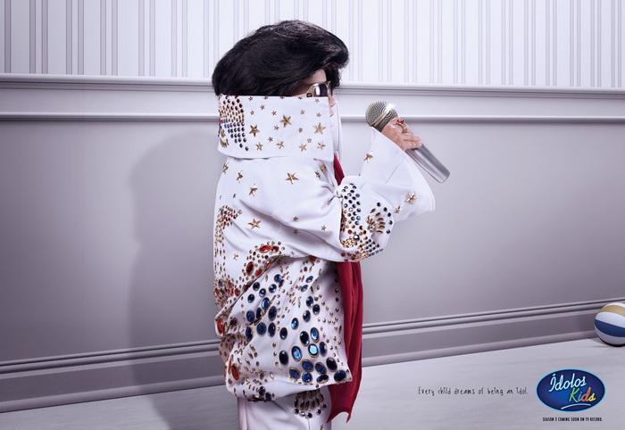 Юный Элвис Пресли. Креативная реклама шоу Idol Kids