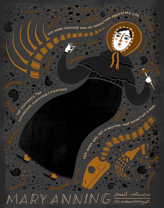 Мэри Эннинг. Коллекционер окаменелостей и палеонтолог-любитель, Великобритания