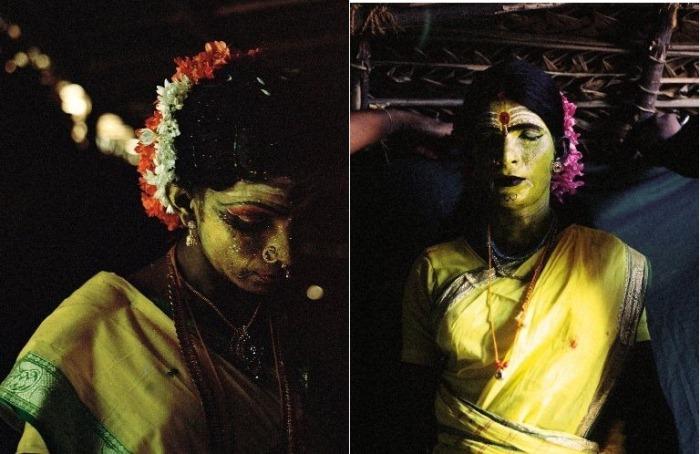 Богини-трансгендеры на фестивале в Индии