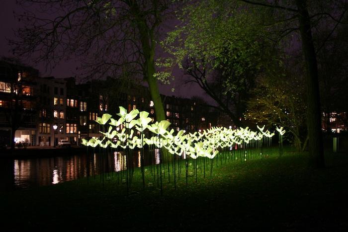 Интерактивная инсталляция на Фестивале света в Амстердаме