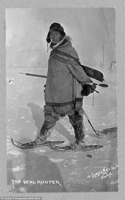 Охотник в снегоступах