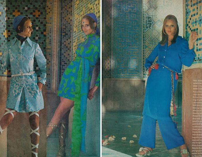 Женская мода в Иране: обложки журналов 1970-х годов