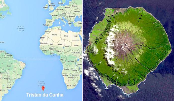 Тристан-да-Кунья - самый удаленный населенный остров на свете.
