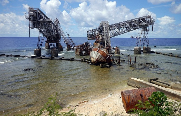 Заброшенная промышленность на острове Науру.