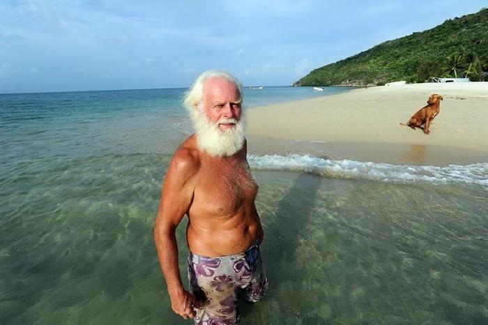 Экс-миллионер Дэвид Глашин на своем острове.