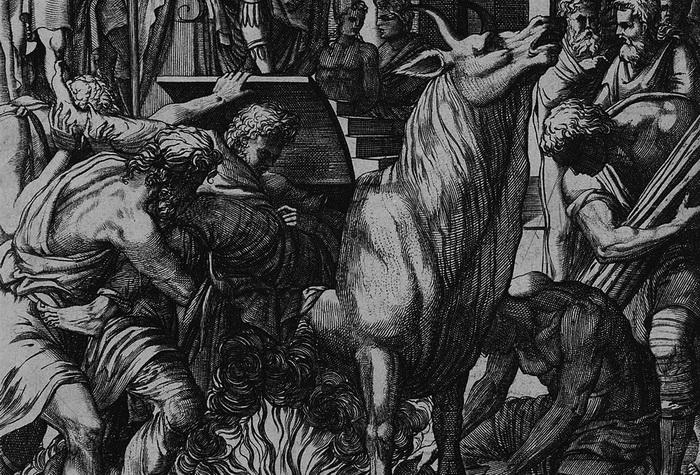Медный бык - жестокое орудие пыток, изобретенное скульптором Перилаем
