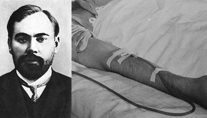 Александр Быков умер во время эксперимента по переливанию крови