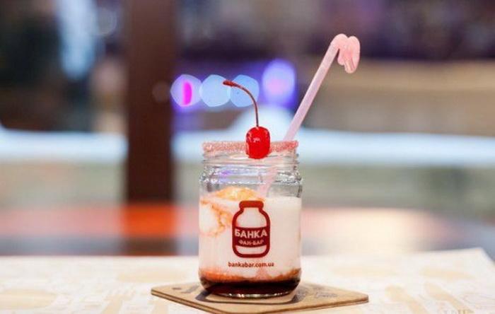 Фан-бар *Банка* - оригинальное тематическое кафе в Киеве