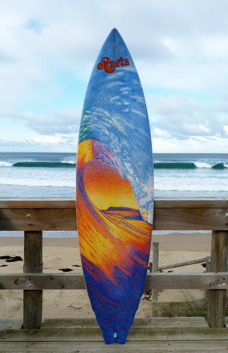 Морские пейзажи на досках для серфинга: творчество Джеррина Доуэра (Jarryn Dower)