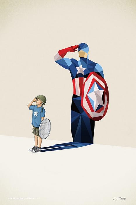 Серия ярких иллюстрациях о детских мечтах