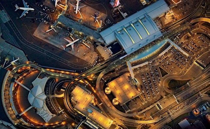Фотографии аэропортов с высоты птичьего полета от Джеффри Мильштейна (Jeffrey Milstein)