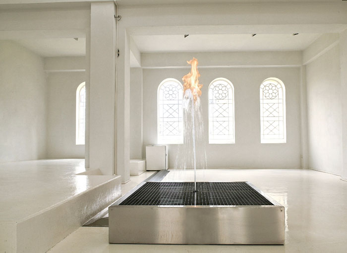 Огненный фонтан от Jeppe Hein