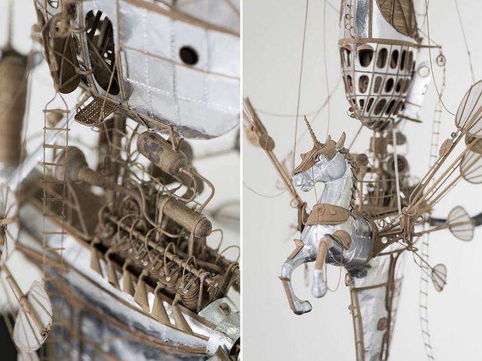 Картонные дирижабли от Йеруна ван Кестерна.